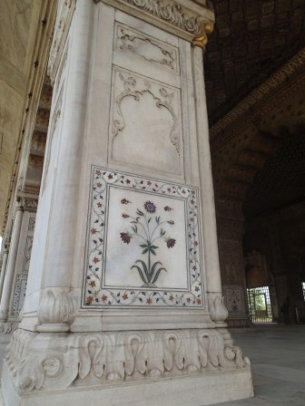 inlaid marble detail