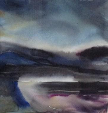 Edge (watercolour 2016) framed £350