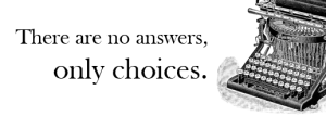 no answers only choices