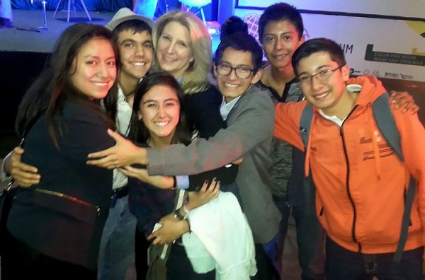 Group hug after Innovation seminar in Puebla, Mexico.