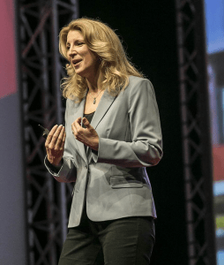 Janine Warner delivers TED talk at TEDx Pura Vida in Costa Rica.