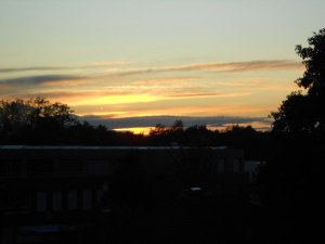 Sunset from my room