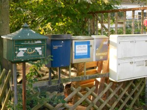Various postboxes