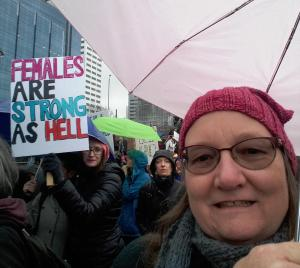 Janis in Portland march