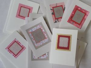 huck lace heart cards