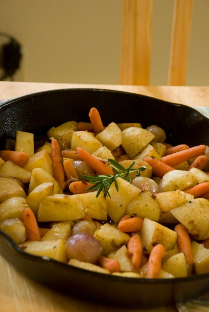 Braised Potatoes & Carrots