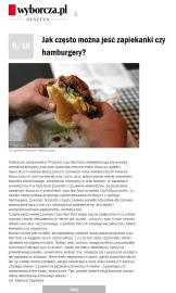 Opinia na temat produktów typu fast food dla Wyborcza.pl - 2