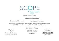 How to Approach Your Patient. Specialist Certification of Obesity Professional Education (SCOPE)