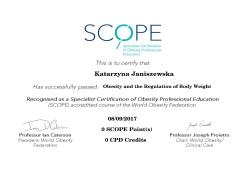 Obesity and the Regulation of Body Weight. Specialist Certification of Obesity Professional Education (SCOPE)