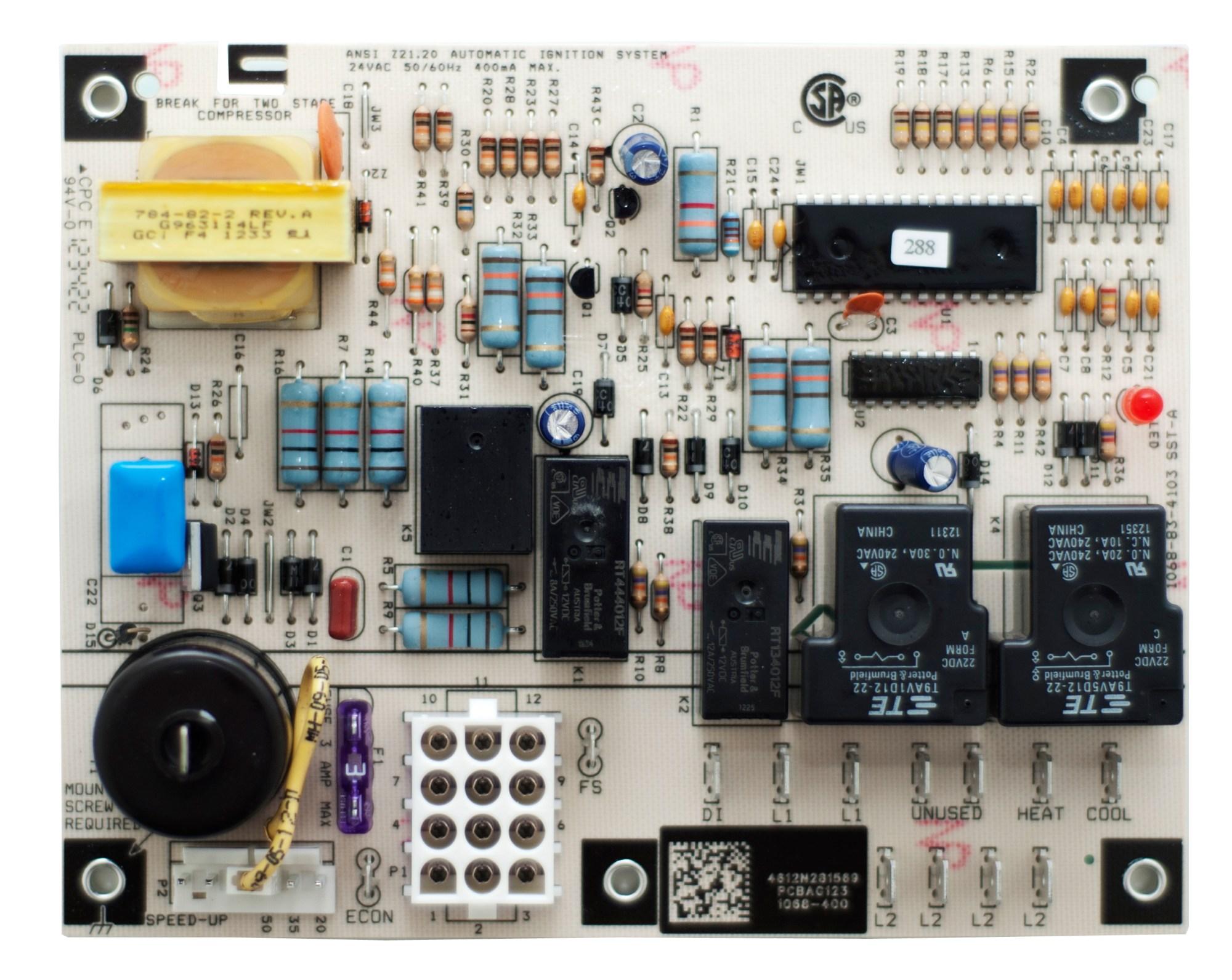 hight resolution of circuit board pcbag123s goodman amana janitrol janitrol repair