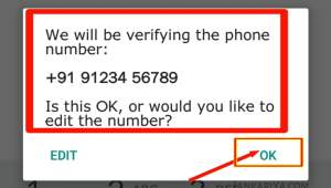 WhatsApp mobile number verification In Hindi,