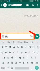 how to send message on WhatsApp