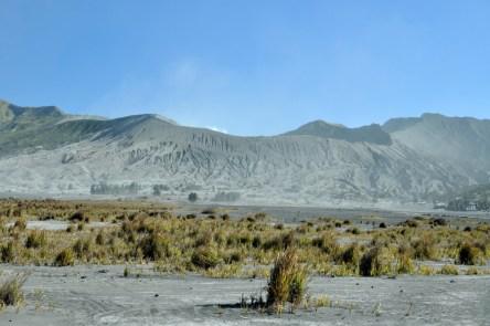 Bromo. 2329 m. 133 m nad dnem kaldery.