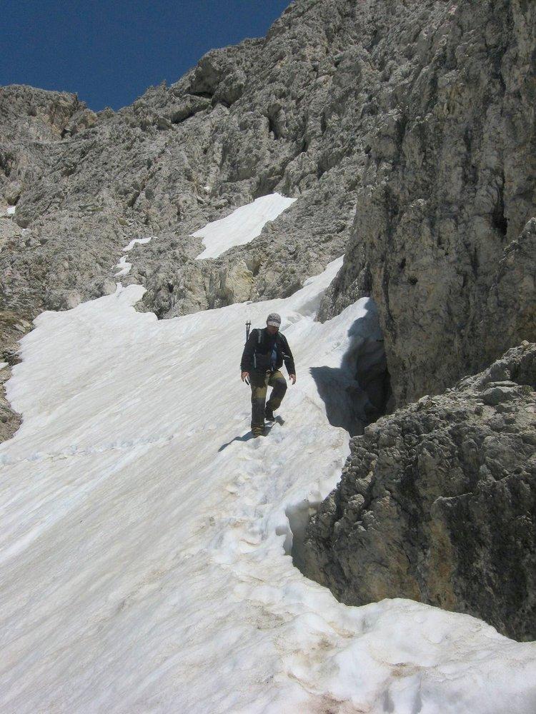Zejście z Lagauzoi Pizo.