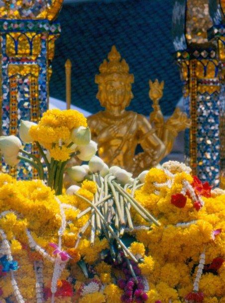 Erewan, dochody z ofiar składanych w tej świątyni przeznaczone są na budowę szpitali w najbardziej potrzebujących regionach Tajlandii.