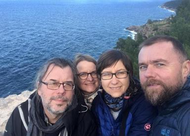 Spadliśmy na wybrzeże. Nasza rodzinna ekipa.