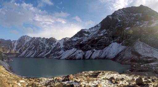100 metrów nad nami jest nasz cel - lodowcowe jezioro Ala Kol.