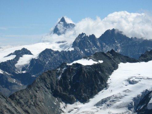 Matterhorn, Bouquetins i Pointes de Tsena Refien.