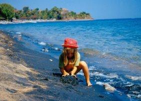 Plaża wulkaniczna.