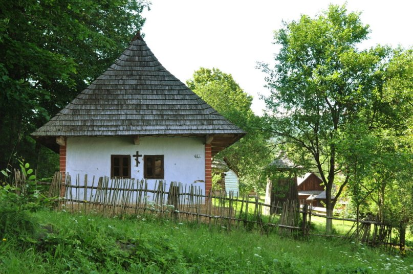 Skansen w Bardejovskich Kupelach.