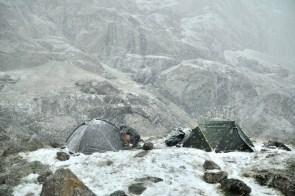 Obóz 2. Wysokość: 3400 m.