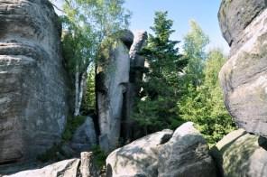 Skały przy Junackiej Vyhlidce obok Špičaka.