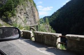 Początek trasy transfogaraskiej od strony południowej.