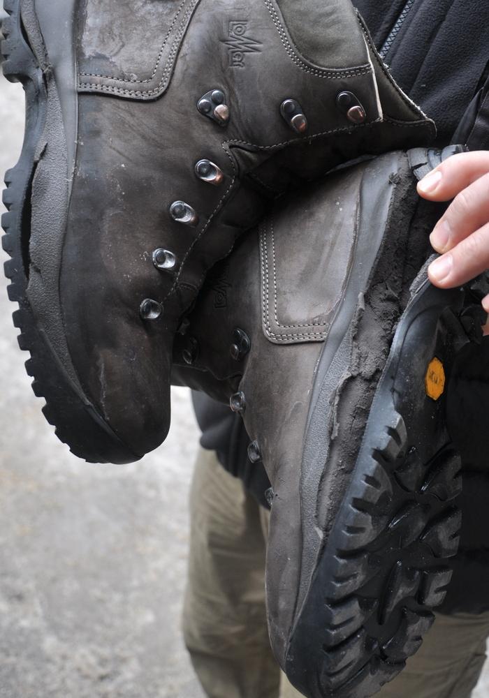 Kolejne buty Zibiego dokonały żywota i nie wróciły do domu...