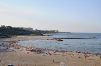 Plaża miejsca w Konstancy.