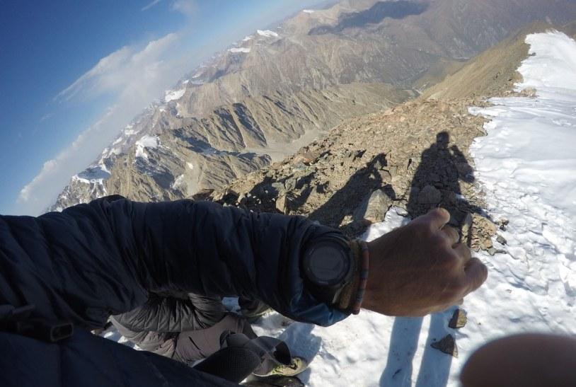 Zegarek pokazuje wysokość 4530 mnpm.