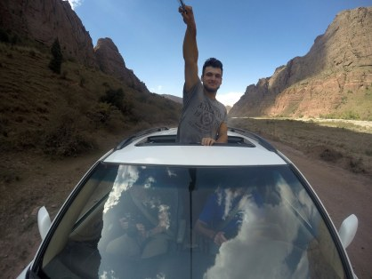 Mamy auto z szyberdachem, więc bawimy się ;)