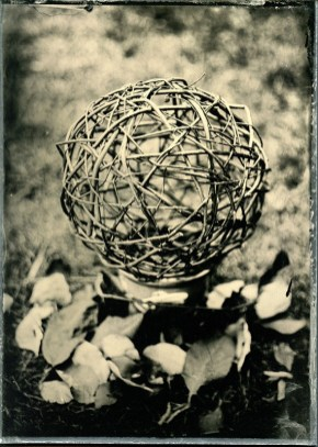 """Wooden Ball, Ambrotype 5x7"""", 08/2013"""