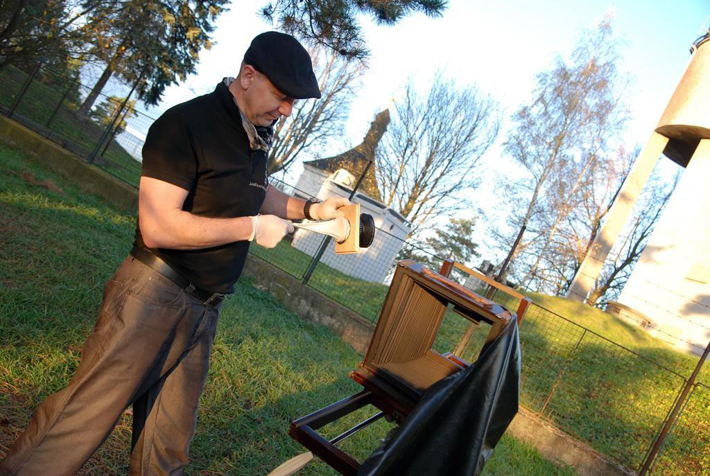 foceni kolodium workshop fotokurz venku třebíč