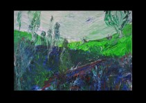 47 View from Carisbrooke Castle I Isle of Wight Acryl /2007/