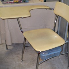 Chair Connected To Desk Blue High Back Chairs Tutorial Updating Student Jan Made It