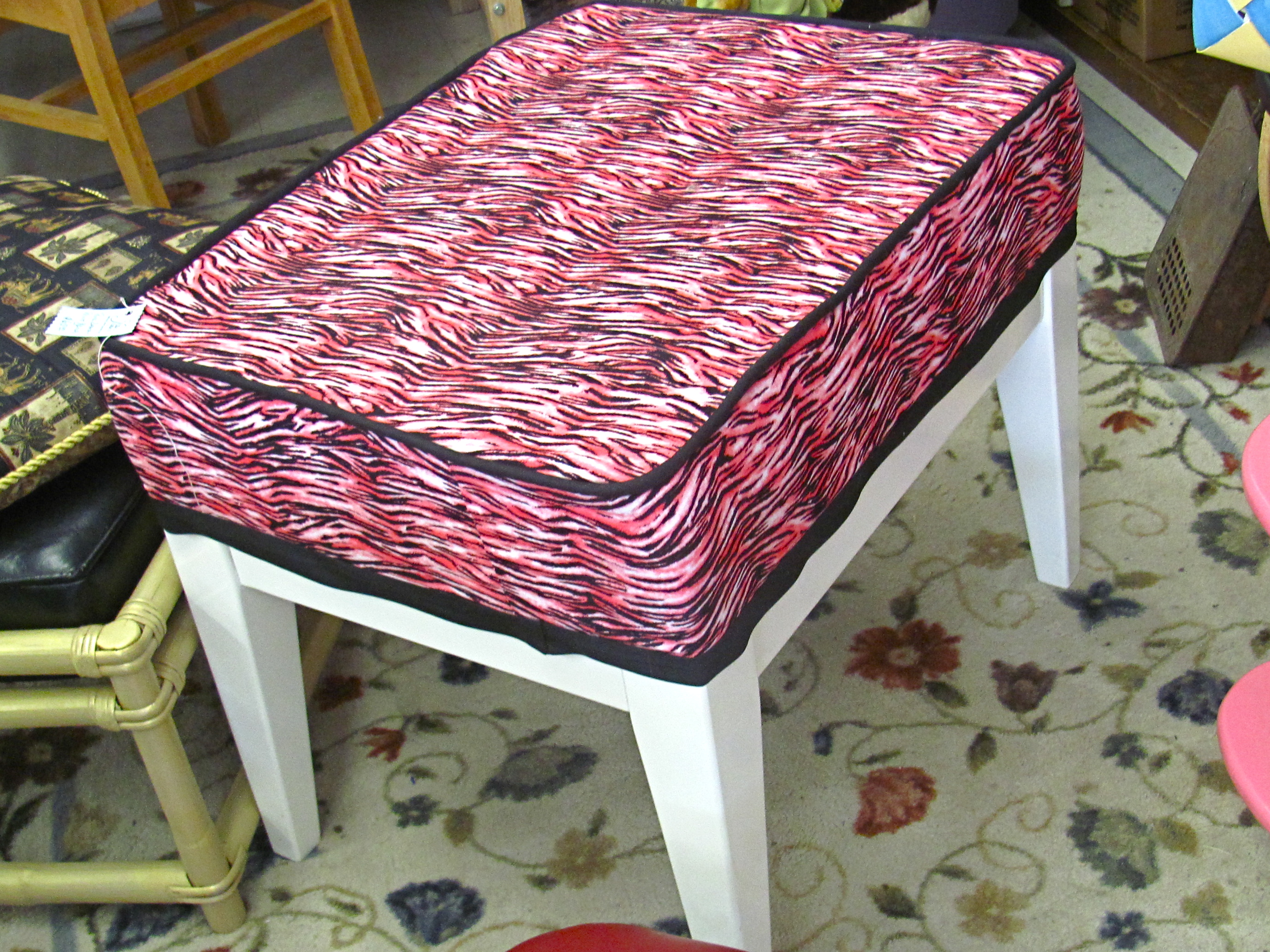 pink vanity chair couch and covers cheap a foot stool bench pretty jan made it