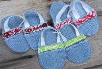 Baby Bibs and Slippers ~ Recycling Denim Jeans | Jan Made It