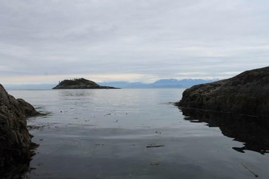 Sooke Point, calm sea
