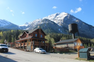 Field, BC, view on Mount Stephen, and our hostel.