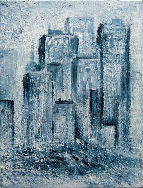 Stadt, Kunst, Malerei gemälde Painting