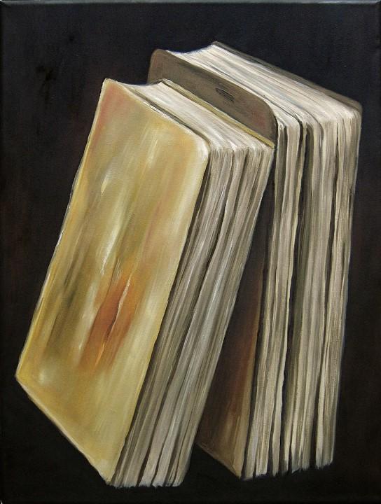 Bücher, Kunst, Malerei Ölgemälde Painting