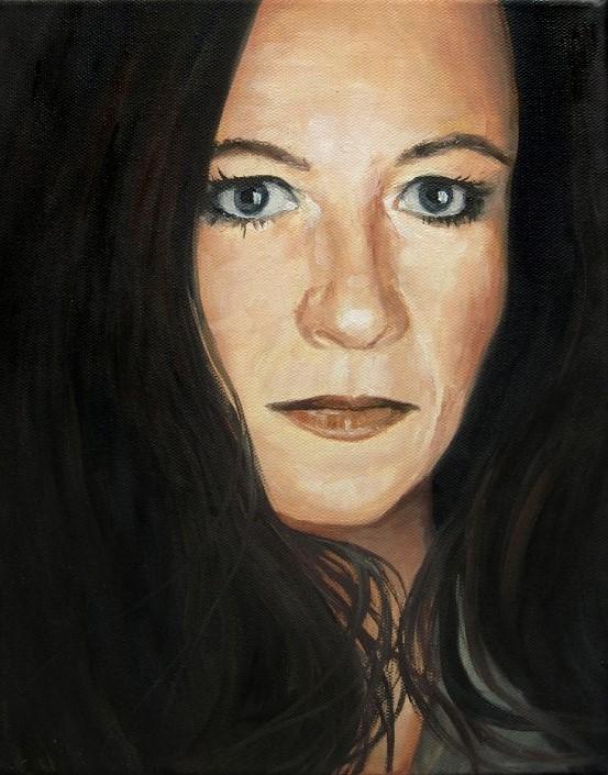 Freundin, Portrait, Ölmalerei Gemälde Painting