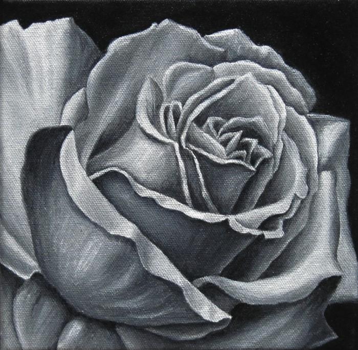 Rose acryl Kunst, Malerei Ölgemälde Painting