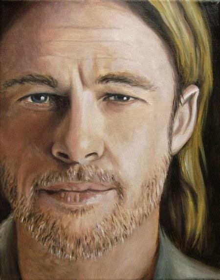 Brad Pitt, Portrait Kunst, Malerei Ölgemälde Painting