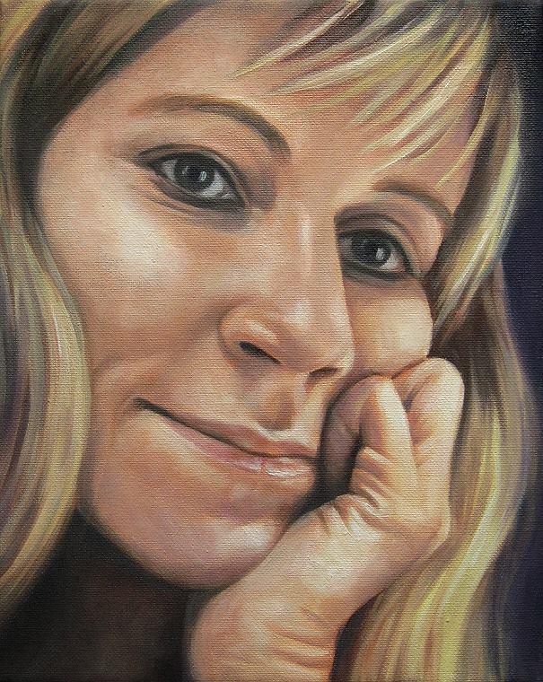 Janny Portrait Kunst, Malerei Ölgemälde Painting