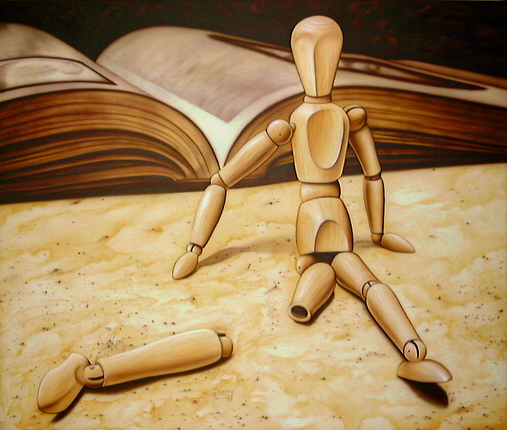 Armer kleiner Freund Kunst Malerei Gemälde Painting