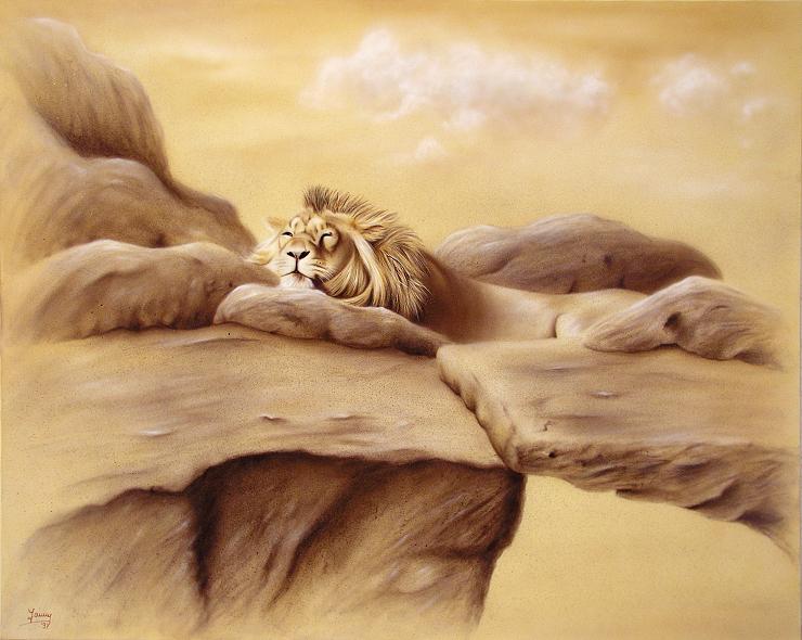 Löwe Kunst Malerei Gemälde Painting