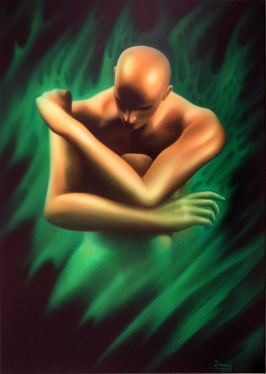 ER, Moderne Kunst Malerei Gemälde Painting gemalter Akt