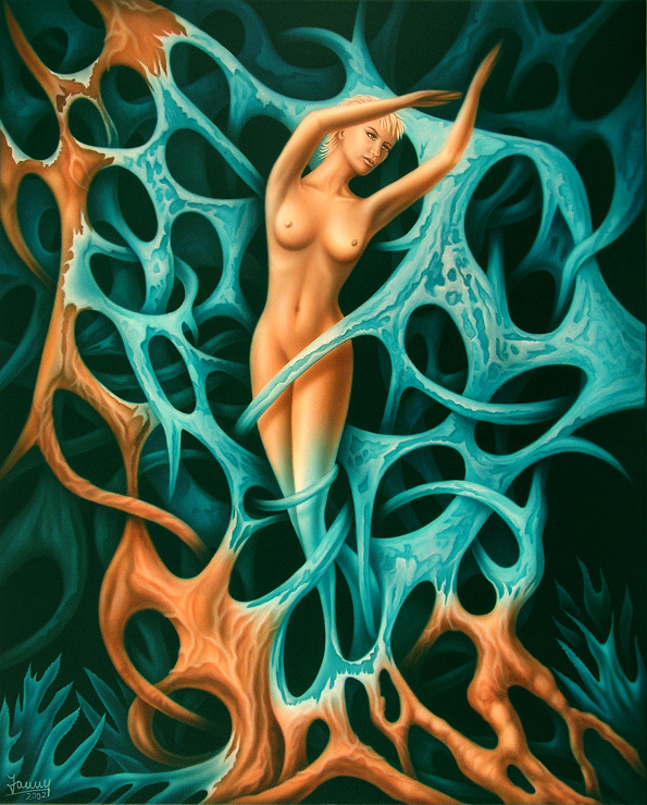 fesseln Moderne Kunst Malerei Gemälde Painting Fantasy