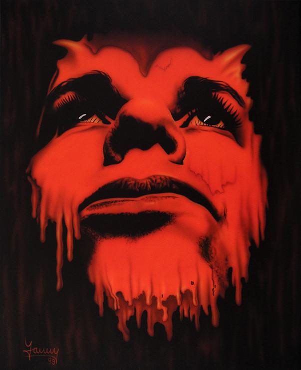 Teufel Moderne Kunst Malerei Gemälde Painting surrealistisch